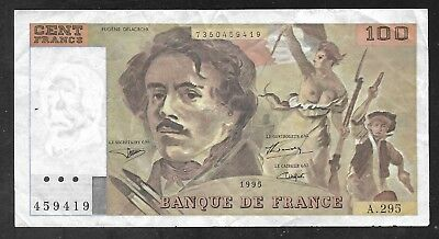 France - Obsolete 100 Francs Note - 1995 - P154h - VF