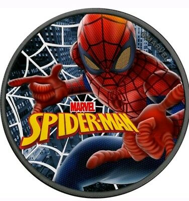 "2017 Tuvalu ""Marvel SpiderMan"" Colorized/Ruthenium 1oz .999 Silver - Box & COA"
