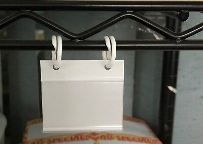 "Wire Fixtures-Baskets- UPC -Price Tag Holders with O Rings -2""W -10 sets"