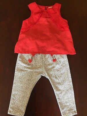 Fashionable Zara Summer baby girl outfit (top and trousers) 9-12 months