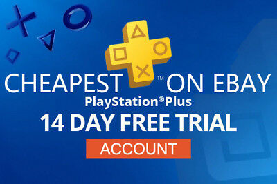 2 ACCOUNT PS PLUS 14 Days for PS VITA / PS3 / PS4 / Playstation