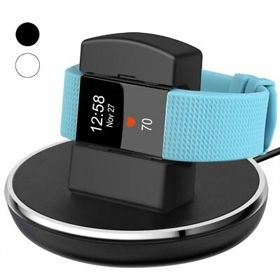 For Fitbit Charge 2 Charger Stand Dock Station Holder Cradle USB Cable Black