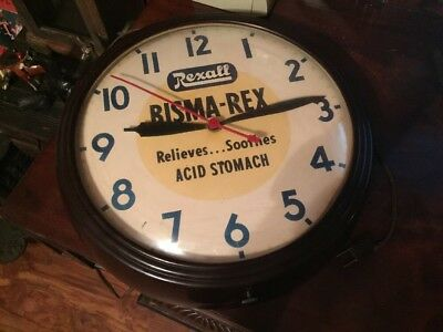 Vintage Advertising Rexall Bisma-Rex Wall Clock