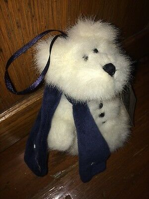 Boyds Silverton Snowbeary 'retired' Snowman Ornament With Scarf * Nwt! *