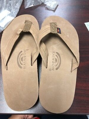 78966410b E Rainbow Sandals 301ALTS Brown Flip Flop Mens Size Medium 8.5-9.5 028