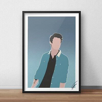 Shawn Mendes INSPIRED WALL ART Poster Minimal A4 A3 in my blood stitches singer