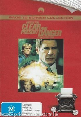 Clear And Present Danger DVD TOP BOX OFFICE FILM Harrison Ford BRAND NEW R4