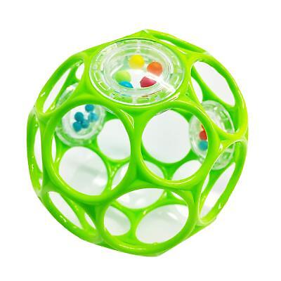 Oball Rattle Flexible Plastic Finger Holes Easy Grip Baby Fun Play Toy Durable