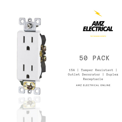 WG Collection  UL Duplex Receptacles  TR  15A Outlet Child-Safe Plugs 50 PACK