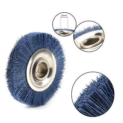 "100mm Abrasive Nylon Wire Polishing Wheel Brush Bench Grinder 4/5"" Bore 320 Grit"