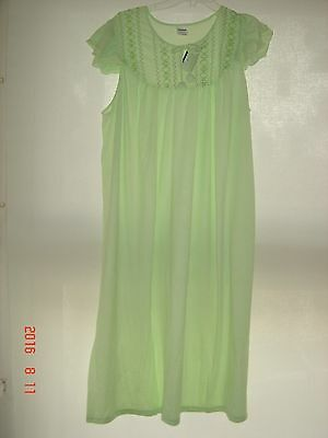 Cohя New 100% Cotton Green Or Pink Embrodered Nigthgown Size Xxxxxl