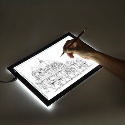 LED Artcraft Tracing Light Pad Box Artist Tattoo Drawing Sketch Board Display A4