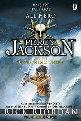 Percy Jackson and the Lightning Thief: The Gr by Rick Riordan New Paperback Book