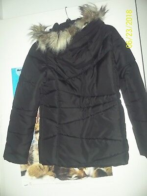 e2bb2961bd4a NEW TOMMY HILFIGER Hooded Peacoat Puffer Coat with Faux-Fur Trim ...