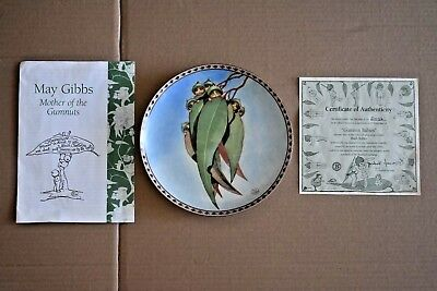 1994 May Gibbs Gumnut Babies Plate With Certificate & Booklet