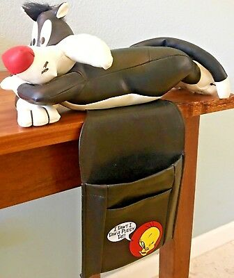 SYLVESTER THE CAT Couch Pouch Remote Control Holder Warner Bros Vintage 1997