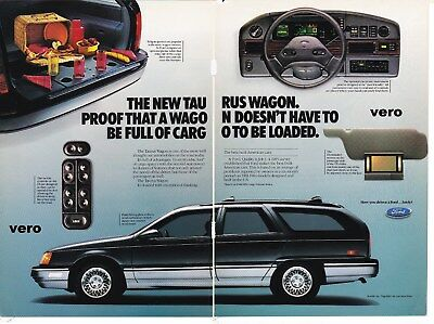 print ad FORD TAURUS WAGON car automobile 1986 advertisement page  ... LOADED