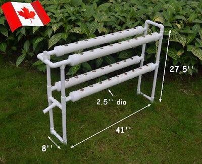 New 110V Hydroponic Site Grow Kit 36 Deep Water Culture Garden System Canada