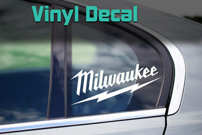 Milwaukee Decal   Tools Chest Truck Trailer Construction Sticker, Multiple Sizes