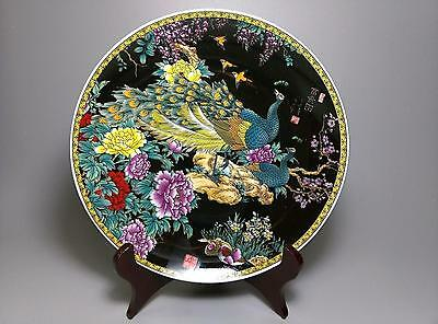 Fine Chinese Old Hand painted Ceramic large Porcelain plate