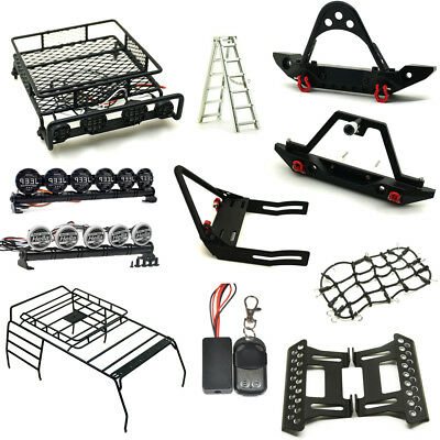 Front Rear Bumper Roof Luggage Rack Net Winch For 1/10 RC Cars Trx-4 Axial SCX10
