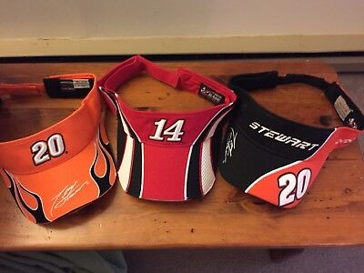Tony Stewart  20 Home Depot    14 Office Depot Nascar Lot Of 3 Visor 67294cf4f42c