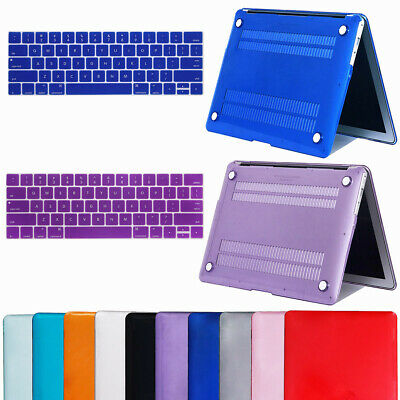 "For Macbook Air 11"" Air 13 inch Rubberized Hard Case Clear Laptop Keyboard Shell"