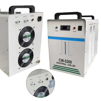Cw-5200 Industrial Water Chiller Co2 Glass Laser Engraving Machine Dissipate Dhl
