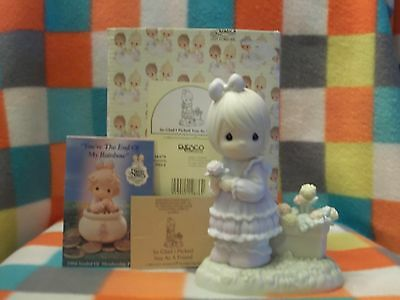 "Precious Moments Figurine ""So Glad I picked You As A Friend""  1993  524379"