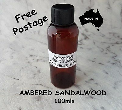 """Top Quality """"ambered Sandalwood"""" Fragrance Oil-100Mls - Candles, Melts"""