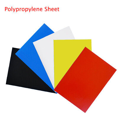 A5 A4 A3 Coloured Polypropylene Plastic Sheet 0.5mm Model Making Arts DIY Crafts
