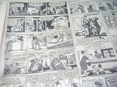 Golden Age Vintage Comic Strip Page 8-31-46 Including: Superman, Orphan Annie &