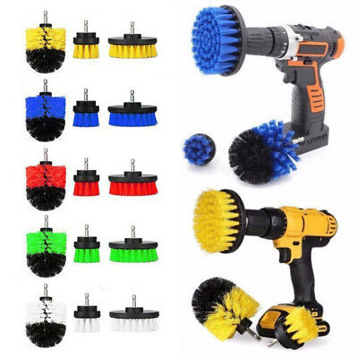 3Pcs Tile Grout Power Scrubber Cleaning Drill Brush Tub Cleaner Combo Scrub US