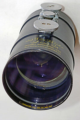 Vintage Hilux VAL Variable Anamorphic CinemaScope Projector SINGLE FOCUS LENS G+