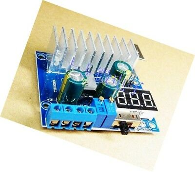 DC 100W 6A 3-35V to 3-35V Boost Step-up Module Power Supply +USB+LED Voltmete