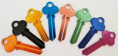 10 x LW5 Aluminum Colour Red Black Gold Aqua Pink Green Blue Purple Key Blanks