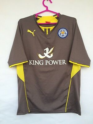 80aff91d206 Leicester City 2013 2014 Puma Away Football Soccer Shirt Jersey Camiseta  Trikot