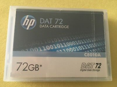 HP  DAT72 Data Tape Cartridge 36/72GB  P/N C8010A DDS-5 NEW factory sealed ONE