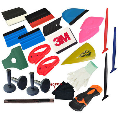 Vehicle Wrap Vinyl Tools Kit 3M Felts Scraper Micro Squeegee TUCK Wrapping USA