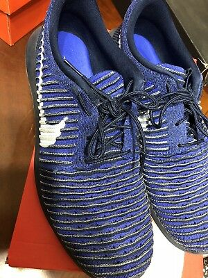 674ec4ce05b4 Nike Roshe Two Flyknit Mens Shoes Size 12 College Navy   White 844833 - 402