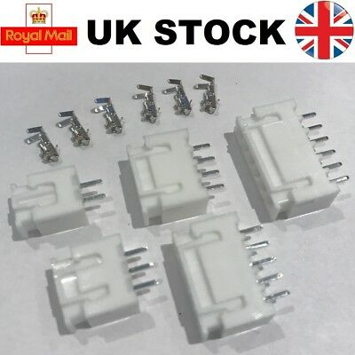 10x JST-XH Connector Plug Sets 2 3 4 5 6 Way Lipo Balance Extension Charge in UK