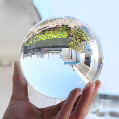 20~80mm Clear Crystal Paper Photography Lens Ball Photo Prop Office Desk Decor