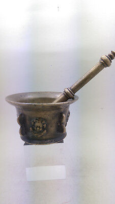 Apotheke Mörser Bronze Spanien  1600 Pistill Antique Bronze Pharmacy Mortar