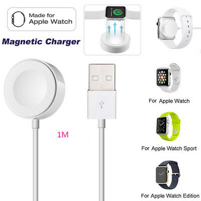 Magnetic Charging Dock Charger Pad 1M Cable For 38/42mm Apple Watch iWatch 2 3