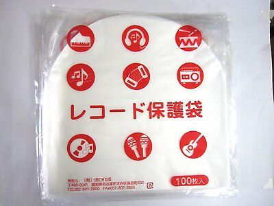 Taguchi Kasei LP round mold 100 sheets 0.028 mm record protection bag from JAPAN