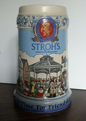 Stroh's Beer Stein - A Time For Friendship - 1994 - Ceramic - Made In Germany