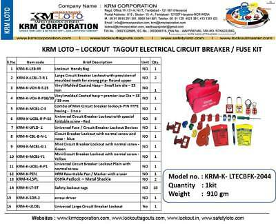 Krm Loto - Lockout Tagout Electrical Circuit Breaker / Fuse Kit
