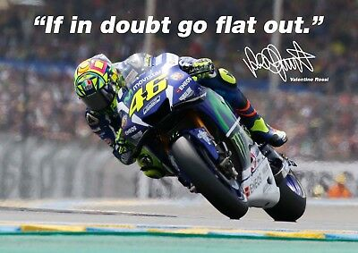 Valentino Rossi poster # 8 - Signed (copy) - motorcycle road racer - A4
