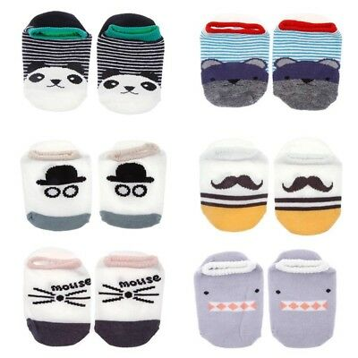 Newborn Baby Boy Girl Ankle Sock Kid Cartoon Anti Slip Cute Cotton Blend Socks