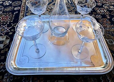 CHRISTOFLE ANTIQUE SILVER PLATED LARGE NOBEL TRAY *Unique*